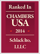 Chambers USA 2014 Schlack Ito, LLLC Badge